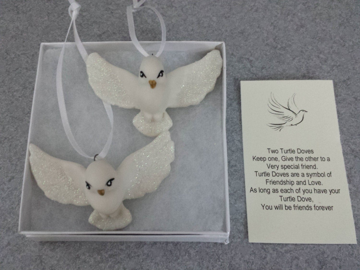 Wedding Gift Ornaments: Two Turtle Doves Ornaments The BFF Gift Wedding