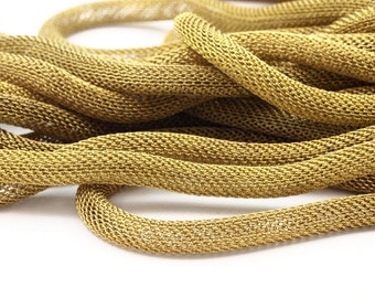 Knitted Brass Chain, 5M (5mm) Raw Brass Mesh Chain Ch002  ( Z108 )