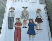 Mc Calls 8585 Vintage Pattern Girls Pull On Top, Pull on Pants and Skirt Size 6,7,8 Uncut Pattern Size 4,5,6