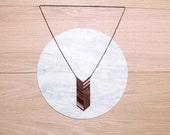 Holiday Sale -  - COLO - Laser cut, walnut necklace, dove grey and dust pink