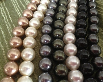SALE!!! SALE!!! 10mm Genuine Swarovski Pearls (5810)and (5811), Your choice of color and package size.