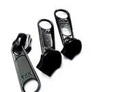 Sale Zipper Sliders - Ten YKK  #4.5 Coil Long Pull N/L Color Black and Ten YKK Long Pull Aluminum Slider - to fit ykk #4.5  chain