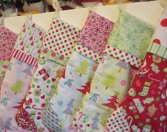 Elf Christmas Stocking - Personalized Stockings - Whimsical Stockings