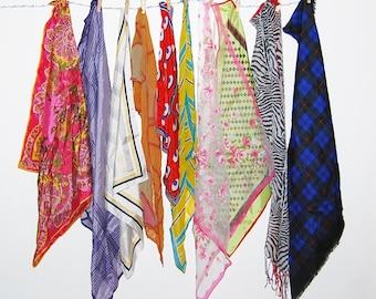 Vintage Scarves for Every Season......Ten Pieces