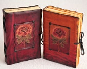Summer Rose Decorated Leather Book / Journal / Notebook / Diary