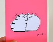 Love Cats Card - Love You Card