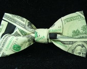 Tax Day US Dollar Currency New Bow Tie for Men Teens Boys Adjustable Pretied Handmade BowTie Gustys