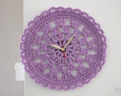 Crochet Pattern clock for your House home decor clock Crochet Pattern  Instant Download