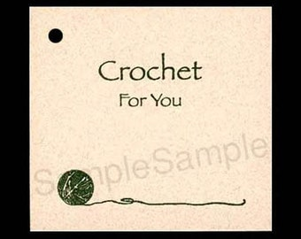 100 CROCHET Hang Tags -100 Strings Included -  Price Tags