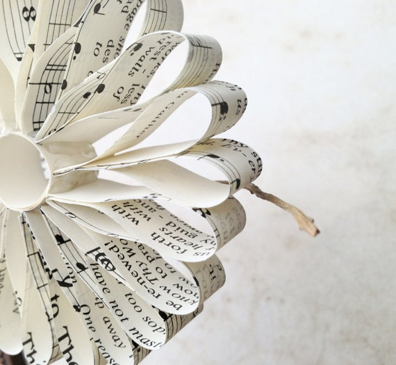 Music Paper Christmas Ornaments Vintage Music Paper Christmas