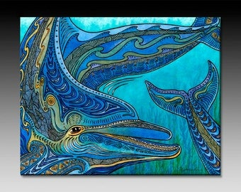 Heads or Tails Dolphin Ceramic Wall Tile