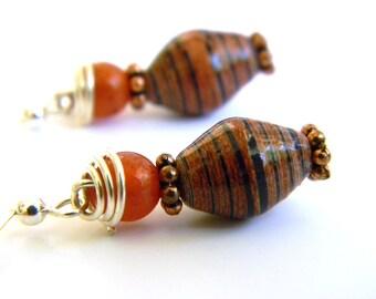 Paper Bead Jewelry - Earrings - #400