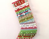 Christmas Stocking - Quilted Patchwork Boutique - custom made by Kat Miles - Reserved for Ginger