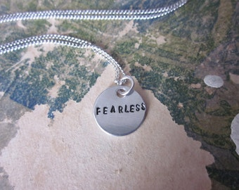 The Irma Necklace - Custom Name or Message Metal Necklace - Extra Small