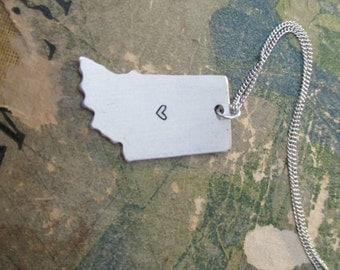 The Edith Necklace - Indiana Love Pendant Necklace or Key Chain