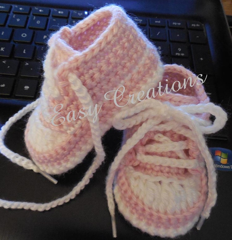 Crochet Pattern Baby Tennis Shoes Baseball By Easycreations