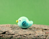 Miniature Figurine - Colorful Little Bird - Miniature Terrarium Figurine Polymer Clay Animal - Hand Sculpted