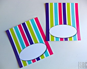 Art Party Tented Labels...Set of 12 Blank Tented Labels