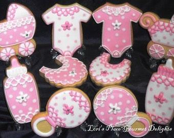 Crochet Baby Shower Cookies - 10 Cookies