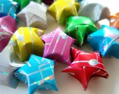 SALE - Origami Stars - 16 Holographic Music Note Stars Origami Lucky Stars - Confetti, Gift Enclosure, Table Decor, Paper Beads, Jar Filler