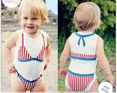 Bikini Applique Template, Bikini Top and Bottom PDF Applique Pattern, Includes Front and Back, Baby Bodysuit Embellishment, Instant Download