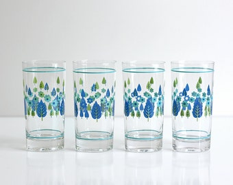 Mid Century Swiss Alpine Drinking Glasses by Marcrest