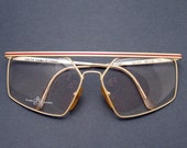 Vintage Glasses Frames Cream Red Deco Euroline Exclusives Italy