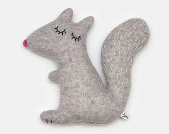 Doris the Squirrel Knitted Lambswool Soft Toy Plush - Made to order