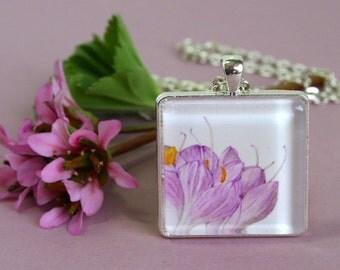 Wearable Botanical Art Pendant Necklace