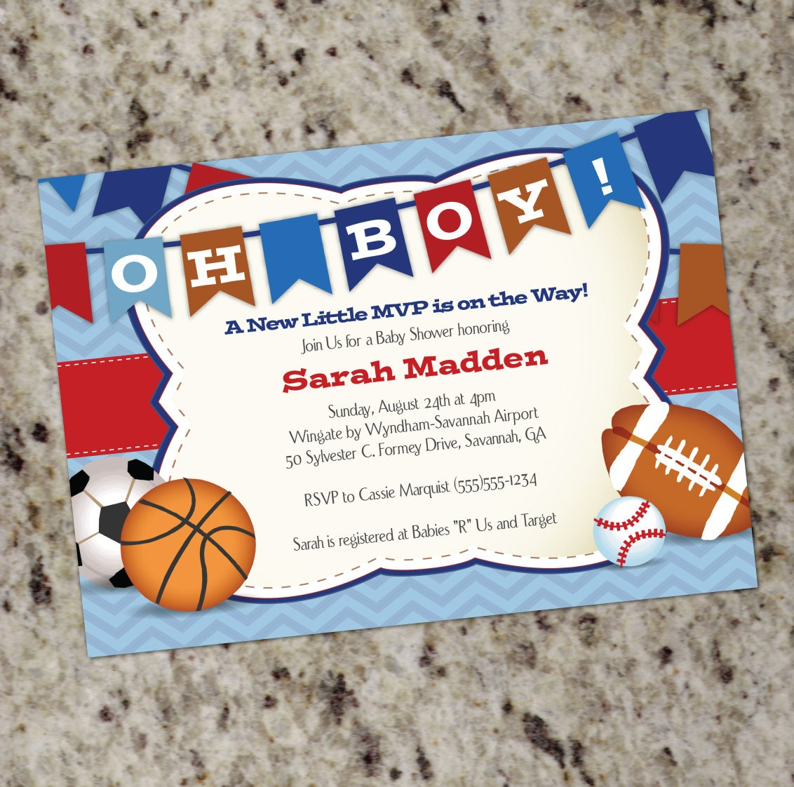 Oh Boy Little All-Star MVP Sports-Themed Baby Shower