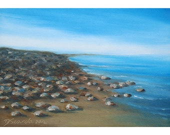 5x7 Greeting Card by Daina Scarola, Item #GC5X7-03 (beach stones, summer, Nova Scotia)