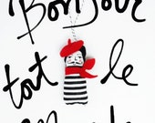French Mime Ornament
