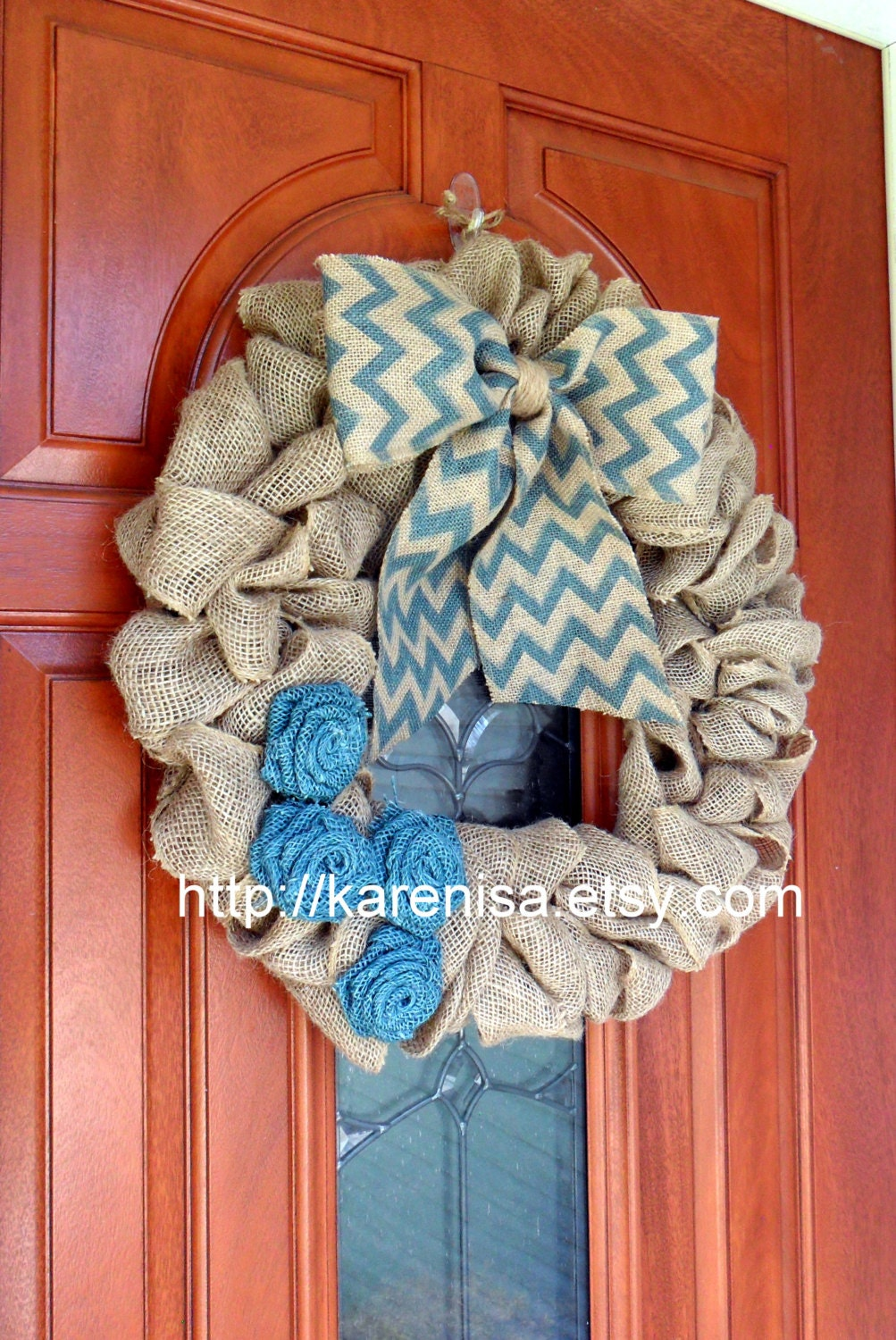 Large Burlap Wreath Front Door Wreath Burlap Wreath With