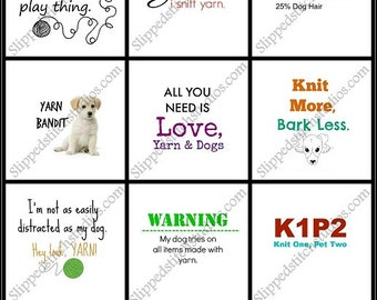 """Dog Lovers Pin Back Buttons Badges Flair Party Favors - Pack of nine 1"""" round pinback buttons"""
