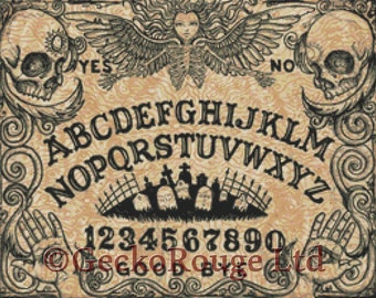 Modern Cross Stitch Kit By Shayne of the Dead 'Ouija Board' - Needlecraft kit