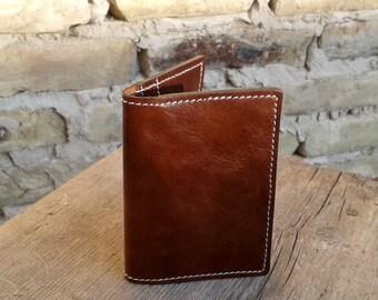 Plain Brown Credit Card Wallet For 4 Credit Cards - Slim Wallet - Credit Card Holder - Men And Women Wallet - Credit Card Case