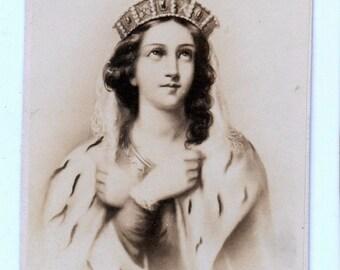1860s - 1870s Antique CDV Photograph. Constance