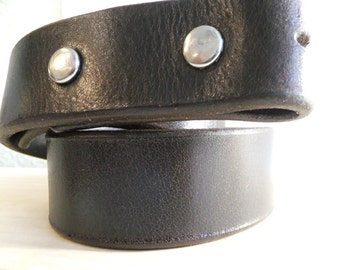 "Medium Brown Leather 1 1/4"" Belt blank"