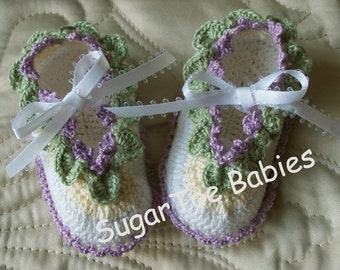 Newborn Baby Booties Crochet Pattern - Instant Downloadable PDF Pattern