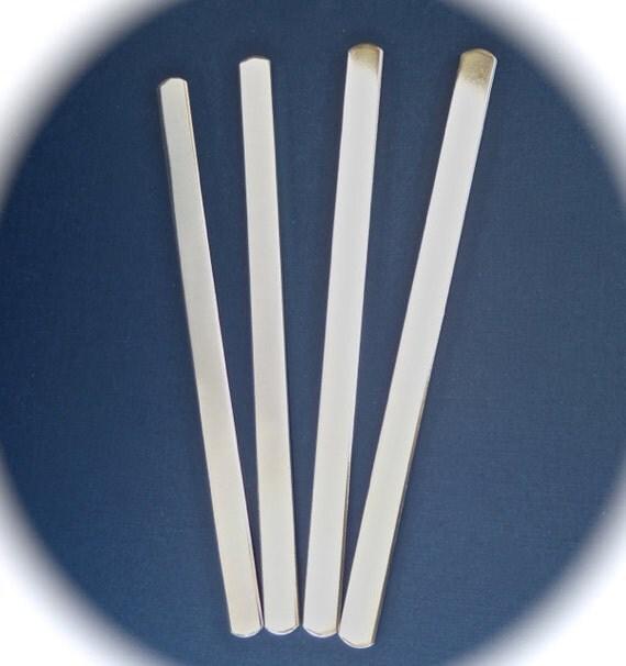100 Polished 3/8 x 6 Inch 14 Gauge Heavy Weight Bracelet Blanks Food Safe Aluminum - 100 Cuffs - Flat