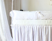Lulu .. Baby crib bumper set...100% linen