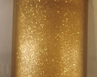 Ready To Ship! 8-oz Glitter Blast Gold Stainless Steel Liquor Flask With FREE In-country Shipping! More Color Options Listed Inside!