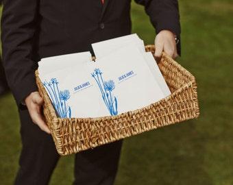 Printable Wedding Program - Wedding Program Template - PDF Wedding Program - Instant Download - Royal Blue - Botanicals - Floral Wedding PDF