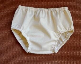Bloomers Newborn - 24 months Beige Cotton Diaper Cover