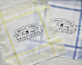 Will You Be My Bridesmaid Handkerchief Set of Two