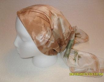 Vintage 80s Floral Silk Scarf by Vera