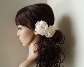 Wedding hair piece Vintage Wedding Hair Flower Bridesmaids Hair Piece Flower Girl Head Piece