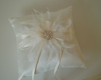 Ivory Ring Bearer Pillow Wedding Pillows Accessory ring holder