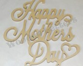 Happy Mothers Day Connected 1/2 Inch