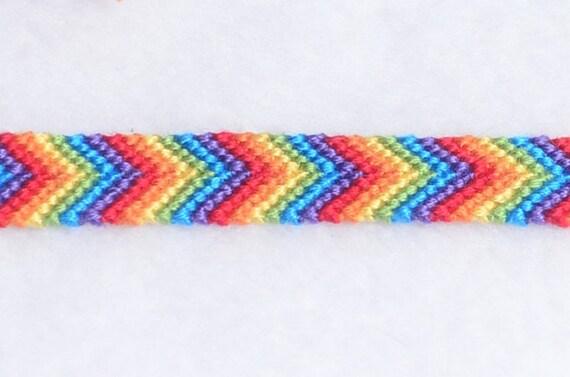 rainbow arrowhead friendship bracelet rainbow colored